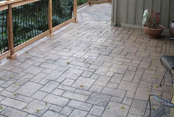 Faire une Terrasse en béton sur GAGNY , avec différent matériaux ...