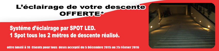 promotion descente de garage synfy