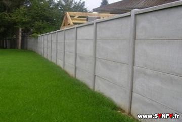 Faire Un Mur De Clôture En Plaque Béton SAINTQUENTIN Aisne - Cloture de jardin en beton